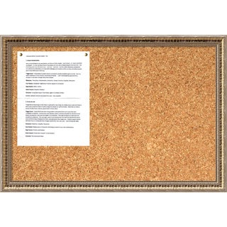 Fluted Champagne Cork Board - Medium' Message Board 26 x 18-inch