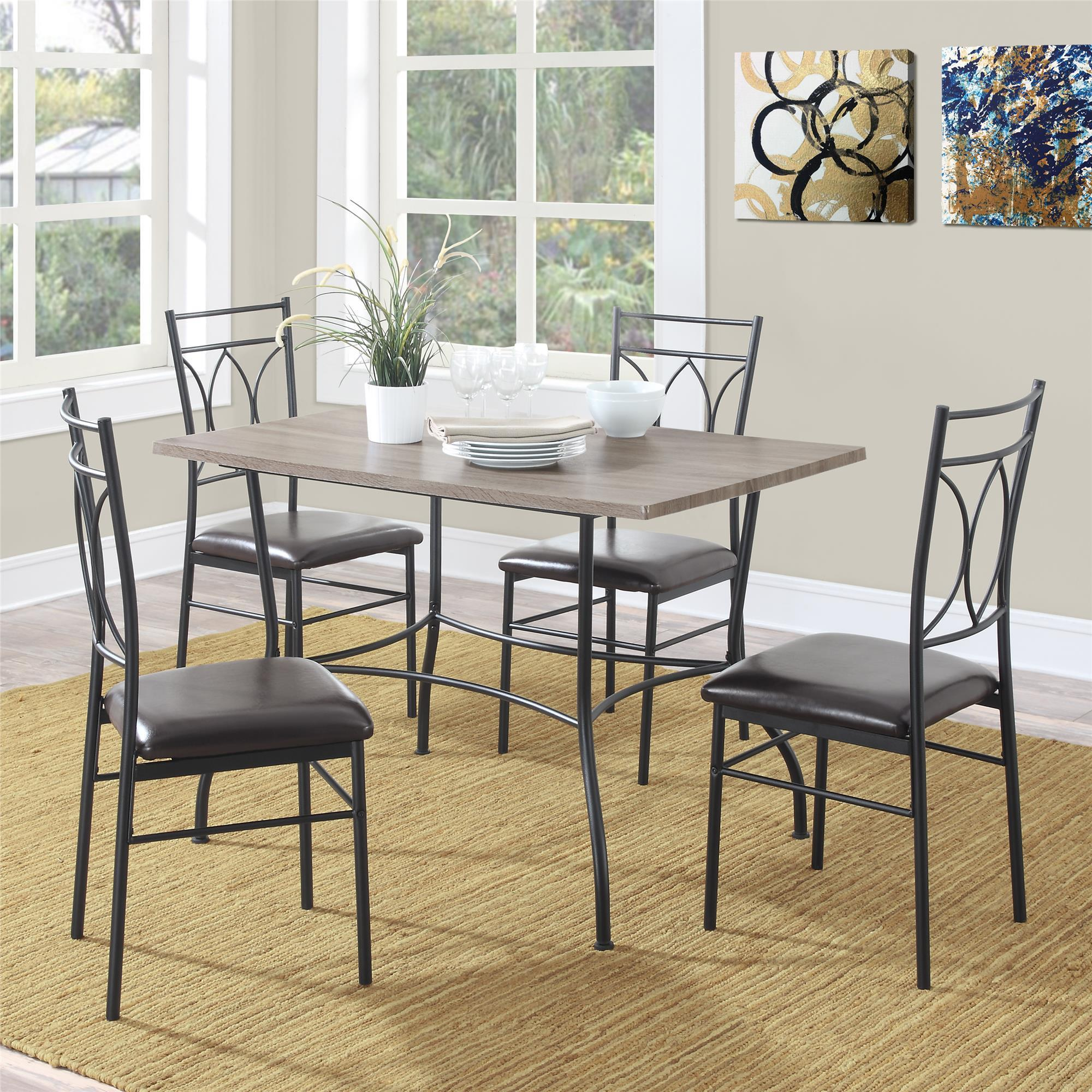 Beau Dorel Living Shelby 5 Piece Rustic Wood And Metal Dining Set