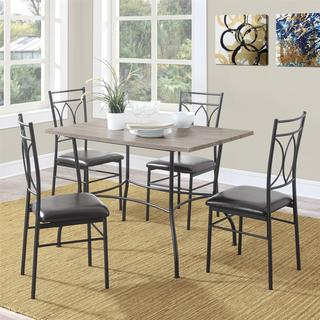 Avenue Greene Shelby 5-piece Rustic Wood and Metal Dining Set