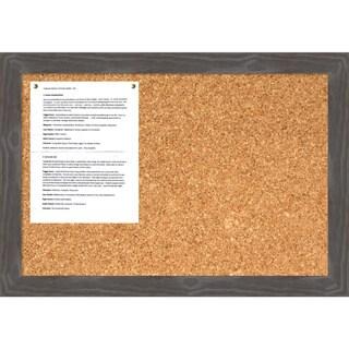 Woodridge Grey Cork Board - Medium' Message Board 27 x 19-inch