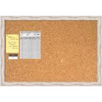 Alexandria Whitewash Cork Board - Large' Message Board 39 x 27-inch