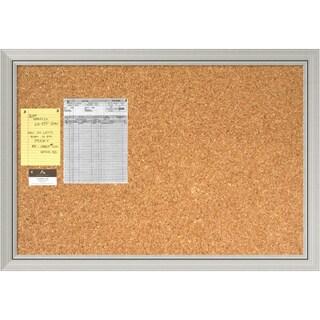 Romano Silver Cork Board - Large' Message Board 40 x 28-inch