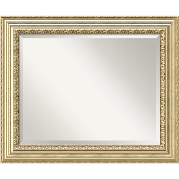 Wall Mirror Large, Victorian Champagne 35 x 29-inch