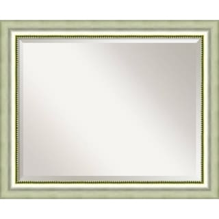 Wall Mirror Large, Vegas Burnished Silver 33 x 27-inch