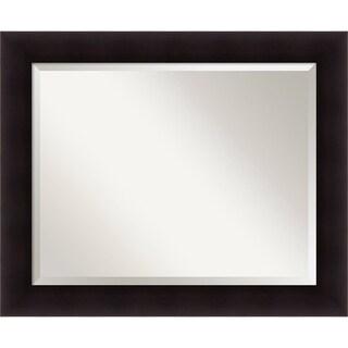 Wall Mirror Large, Portico Espresso 34 x 28-inch - large - 34 x 28-inch