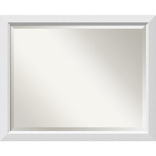 Wall Mirror Large, Blanco White 32 x 26-inch