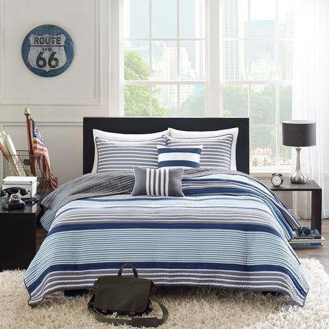 Intelligent Design Steven 5-piece Coverlet Set