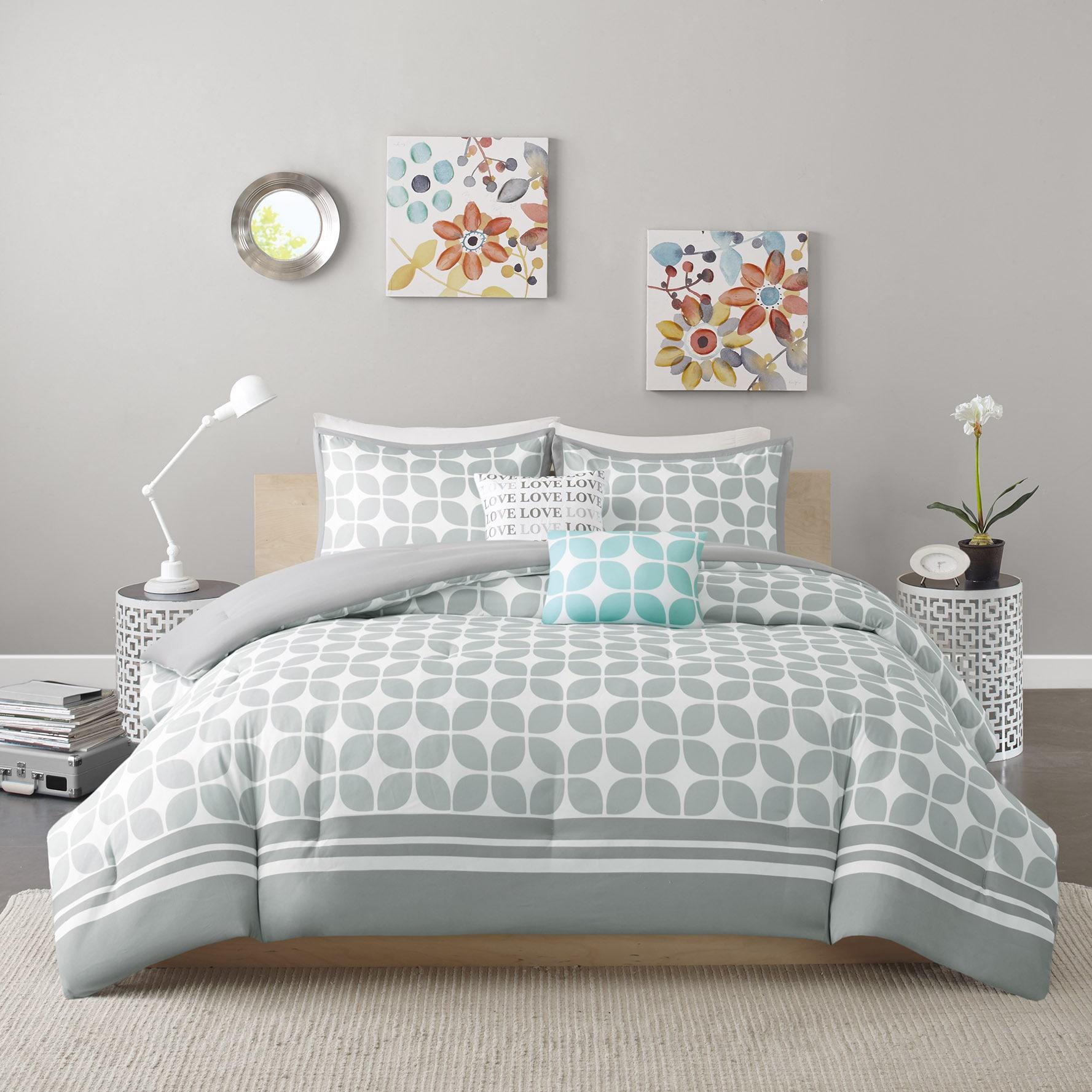 orange parker comforter com set cotton habitat bath overstock bedding piece product bed urban printed