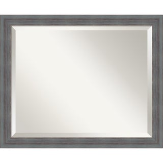 Wall Mirror, Dixie Grey Rustic Wood - Blue/Grey/Brown