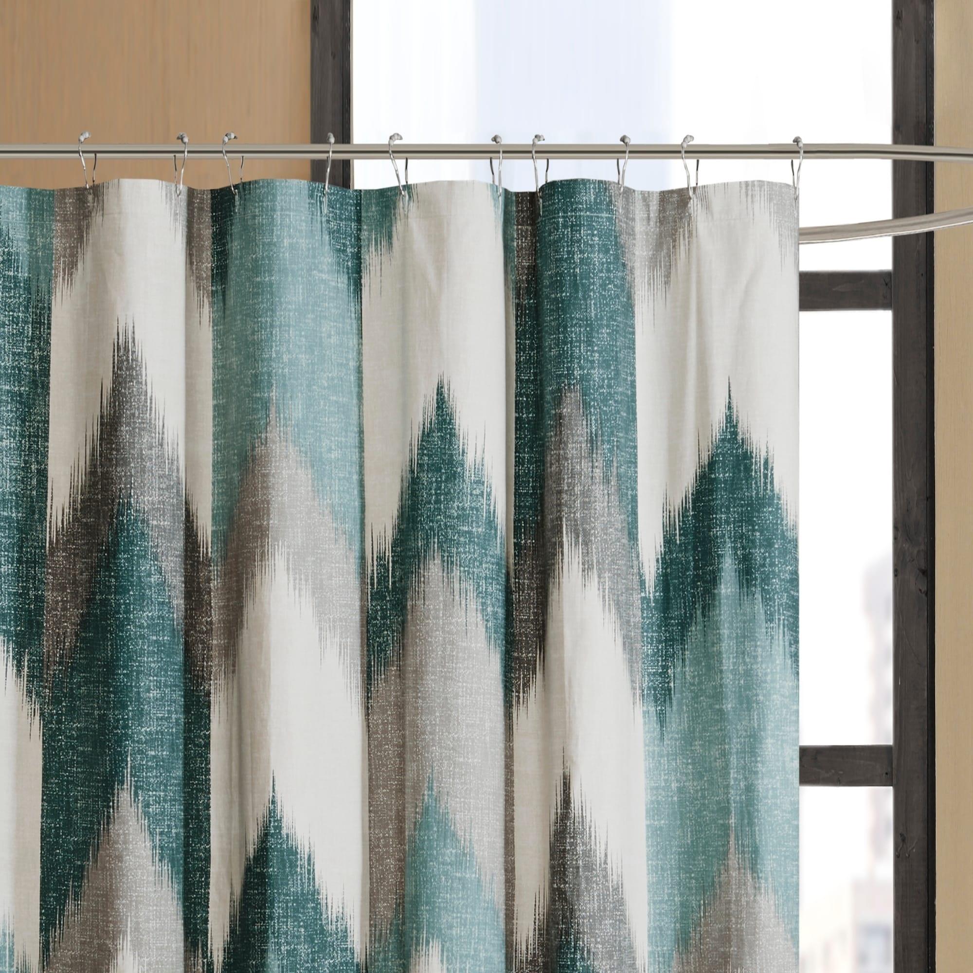 Carson Carrington Mazeikiai Cotton Printed Shower Curtain Overstock 10410057