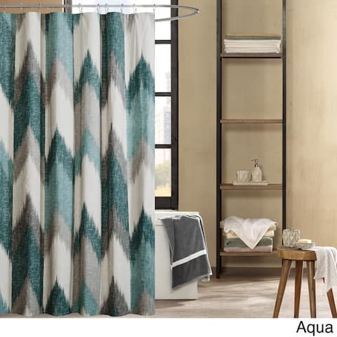 Carson Carrington Mazeikiai Cotton Printed Shower Curtain