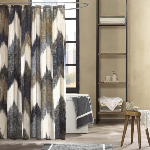 Ink+Ivy Alpine Cotton Printed Shower Curtain