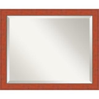 Bourbon Orange Rustic Wall Mirror - Medium 22 x 18-inch