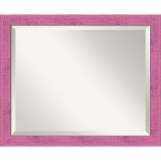 Petticoat Pink Rustic Wall Mirror - Medium 22 x 18-inch