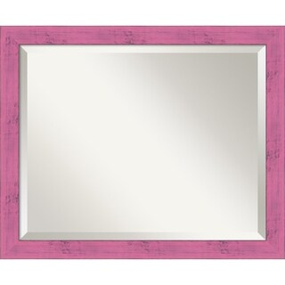 Wall Mirror Medium, Petticoat Pink Rustic 18 x 22-inch