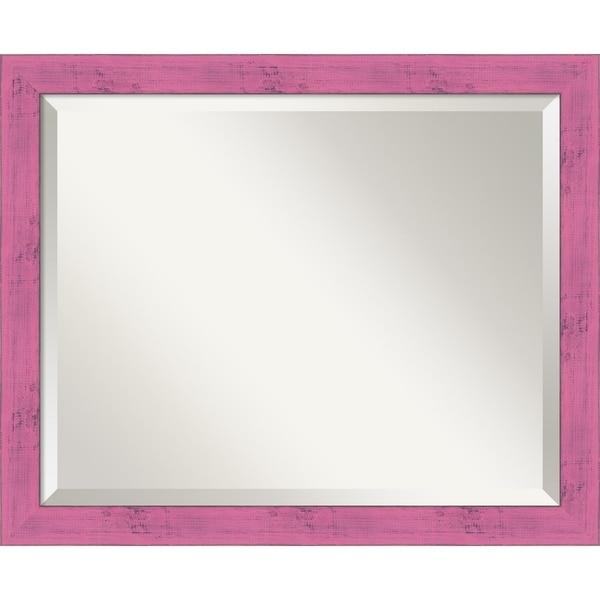 Shop Wall Mirror Medium Petticoat Pink Rustic 18 X 22 Inch Free