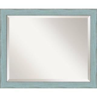 Sky Blue Rustic Wall Mirror - Medium 22 x 18-inch