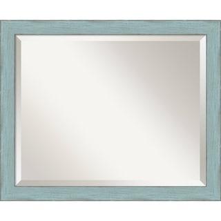 Wall Mirror Medium, Sky Blue Rustic 19 x 23-inch