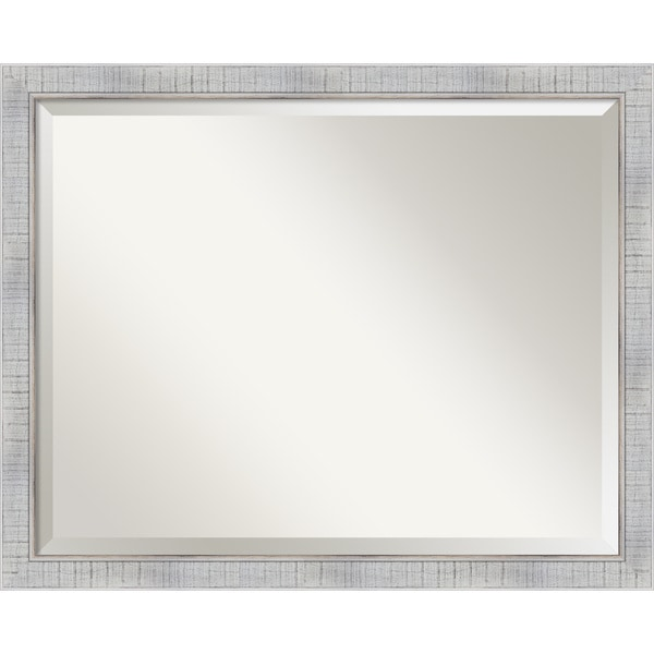 The Gray Barn Wilset Large Whitewashed Mirror - 24.88 x 30.88 x 0.804 inches deep
