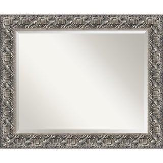 Wall Mirror Large, Silver Luxor 34 x 28-inch