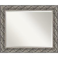 Wall Mirror, Silver Luxor Wood - Pewter