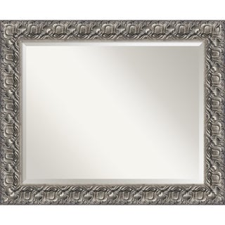 Wall Mirror, Silver Luxor Wood
