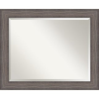 Wall Mirror Large, Country Barnwood 34 x 28-inch