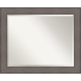 Wall Mirror Large, Country Barnwood 34 x 28-inch - large - 34 x 28-inch