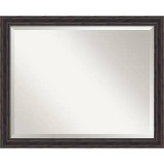 Wall Mirror Large, Rustic Pine Narrow 31 x 25-inch