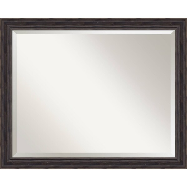 Wall Mirror Large, Rustic Pine Narrow 31 x 25-inch - large - 31 x 25-inch