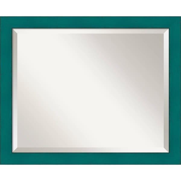 Wall Mirror Medium, French Teal Rustic 18 x 22-inch