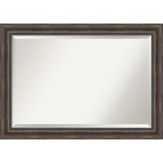 Wall Mirror Extra Large, Rustic Pine 42 x 30-inch