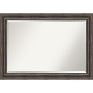 Wall Mirror Extra Large, Rustic Pine 42 x 30-inch - Brown - extra large - 42 x 30-inch