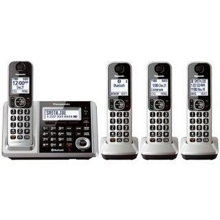 Panasonic KX-TGF374S DECT 6.0 Landline Telephone with 4 Cordless Handsets (Refurbished)