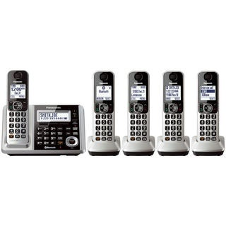Panasonic KX-TGF375S DECT 6.0 Landline with 5 Cordless Handsets (Refurbished)