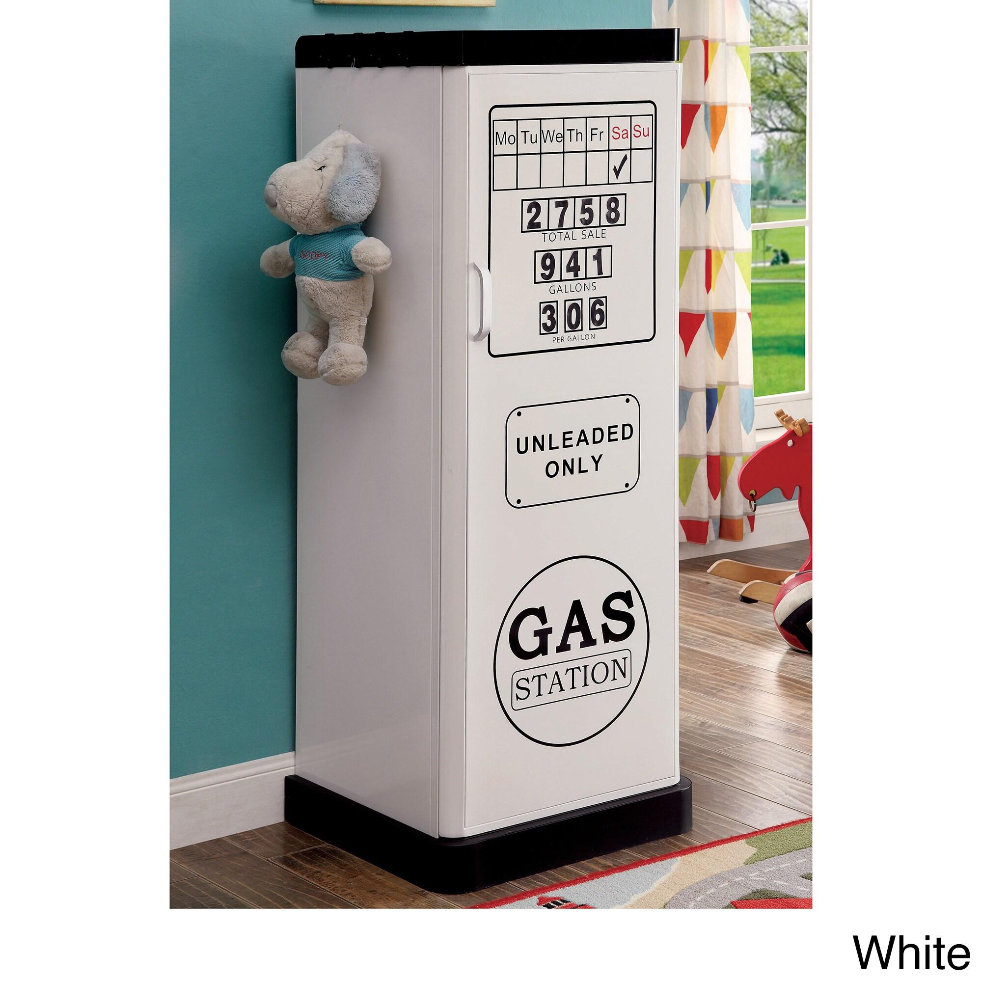Furniture of America Fuel Up Metal Single-Door Closet (Wh...