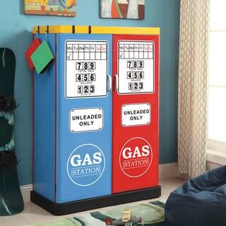 Furniture of America Fuel Up Metal Double-Door Closet