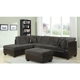 Kilia Dark Sage Sectional with Matching Ottoman