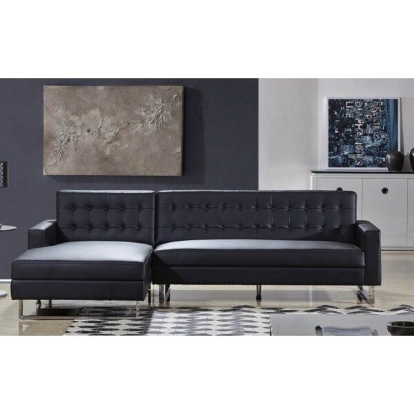 Shop Polonne PU Leather Or Fabric Sectional Sofa - Free Shipping ...