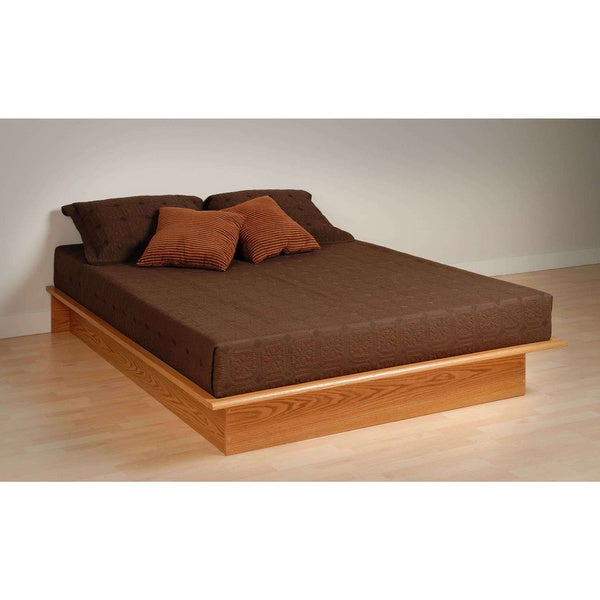 Oak Queen Platform Bed Free Shipping Today 17510909