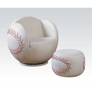 Kid S Green Club Chair And Ottoman Set 14919385
