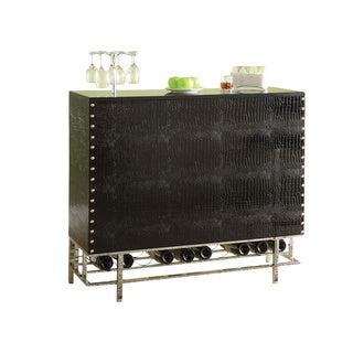 Romny Black Finish Bar Table