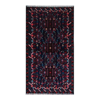 Herat Oriental Afghan Hand-Knotted Tribal Balouchi Wool Rug (4' x 7'1)