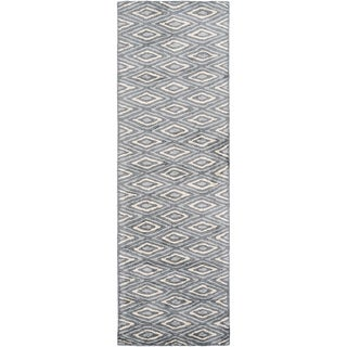 Hand-Woven Grimsby Geometric Viscose Area Rug (2'6 x 10')