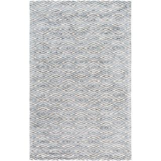Hand-Woven Grimsby Geometric Viscose Rug (2' x 3')