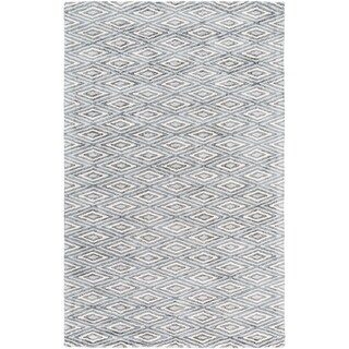 Hand-Woven Grimsby Geometric Viscose Area Rug - 3' x 5'