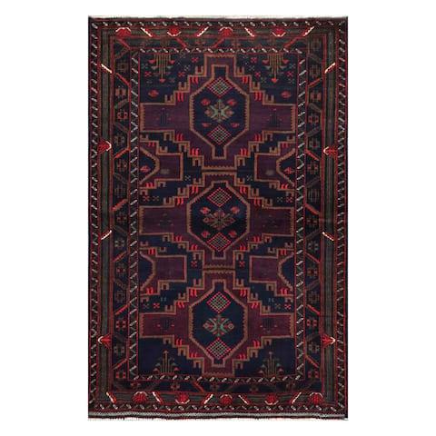 Handmade One-of-a-Kind Balouchi Wool Rug (Afghanistan) - 3'5 x 5'5