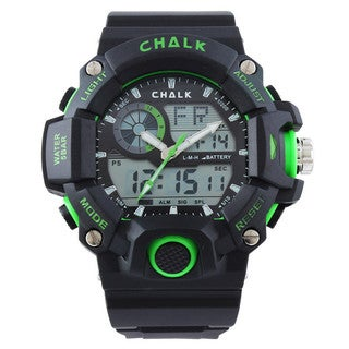 Chalk Velocity Electric V Men's 52mm Green Extreme Sports Watch