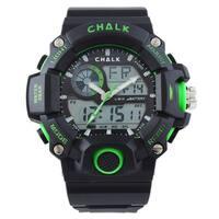 Chalk Velocity Electric V Men's 52mm Green Extreme Sports Watch - black