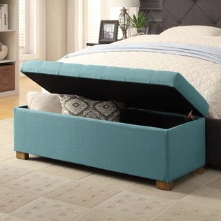 HomePop Large Tufted Storage Bench